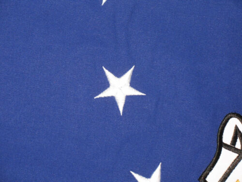 3x5 Embroidered US Air Force Emblem Double Sided 100/% Cotton Flag 3/'x5/' 2 clips