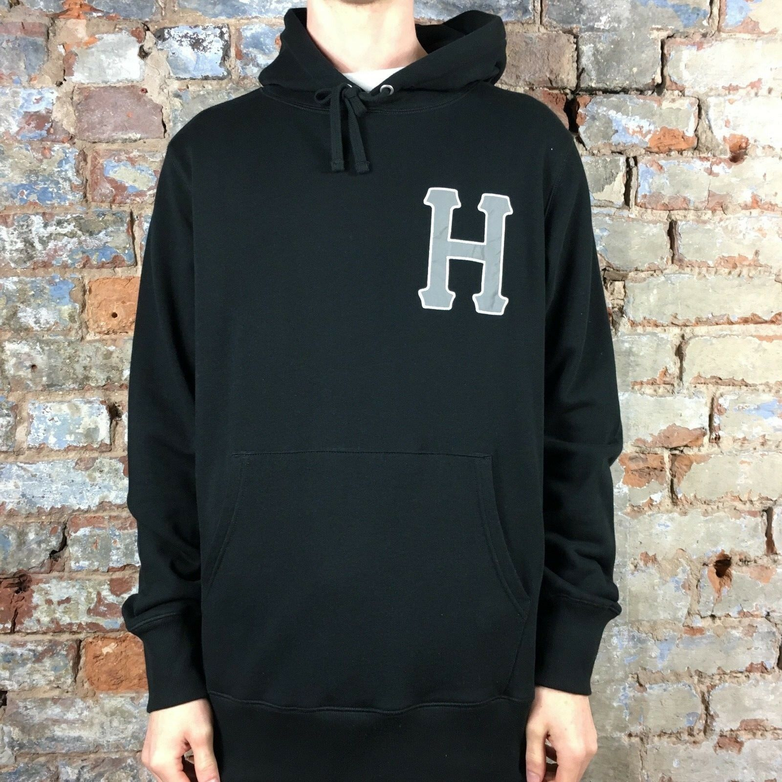 HUF Classic H 3M Applique Hoodie Pullover Hooded Sweatshirt In schwarz Größes S M L