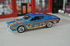 Hot Wheels - '69 Mercury Cyclone - Blue w/ Flames - Loose - 1:64