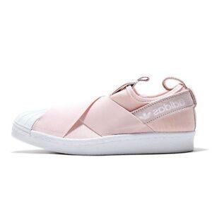 adidas originals women 39 s superstar slip on w shoes halo pink s76408 a ebay