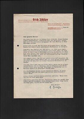 Brief 1939 Horn Bei FÜssen Am Lech Erich Zschäpe Betriebswerber