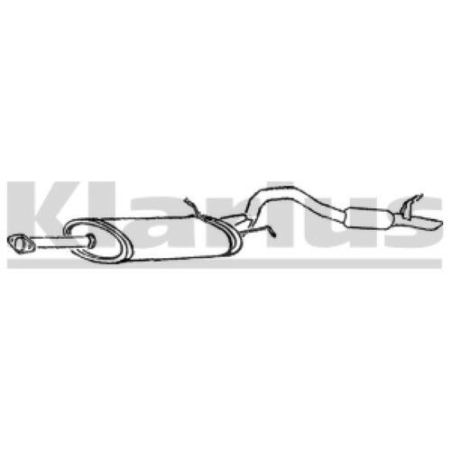 1x KLARIUS OE Quality Replacement Front Silencer Exhaust For SUZUKI Petrol
