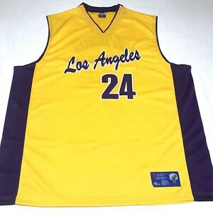Details about ANAO Los Angeles Basketball Kobe Bryant Jersey # 24 Men's Size 3XL