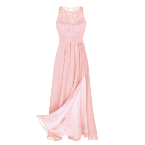 Ladies Womens Lace Prom Dress Cocktail Party Ball Gown Evening Bridesmaid Dress