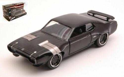 Fast /& Furious Dom/'s Plymouth Gtx Black 1:32 Model JADA TOYS