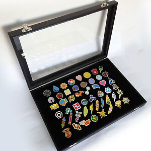 Details about Set of 50pcs Lapel Pins Badges Pokemon Gym Badge with Glass  Lid Display Showcase