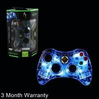 Microsoft Xbox 360 Afterglow Led Pdp Wired Controller Blue (pl3702)