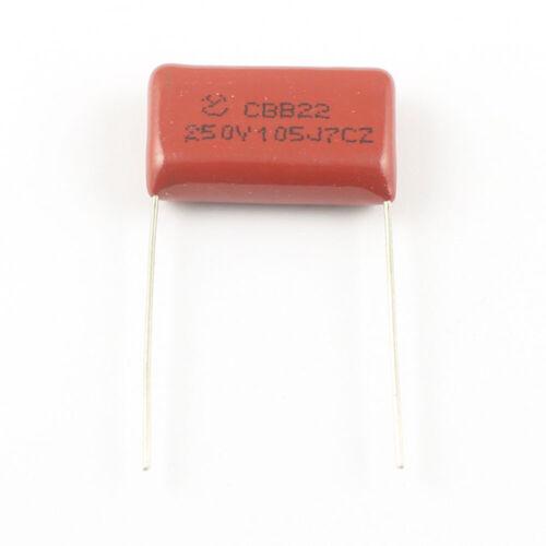10Pcs métallisé en polypropylène Film Condensateur 250 V 1UF 105 105J CBB CBB22