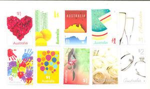 Australia-Greetings set of 10-2016 mnh gummed issue