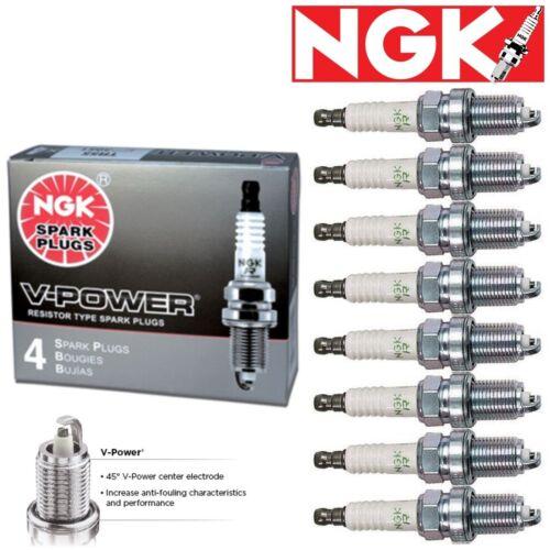 NGK V-Power Plug Spark Plugs 2004-2005 Ford E-350 Club Wagon 5.4L V8 GAS 8