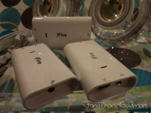 Griffin-iFire-FireWire-400-Adapter-with-Apple-Pro-Speakers-for-Macintosh-RARE