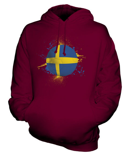 SWEDEN FOOTBALL UNISEX HOODIE TOP GIFT WORLD CUP SPORT