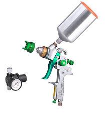 2.5mm HVLP Gravity Feed SPRAY GUN w/ REGULATOR Metal Flake Auto Paint NEWPrimer