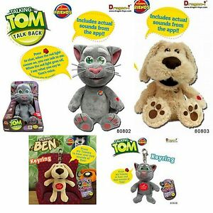 TALKING-TOM-BEN-28cm-INCH-LARGE-ANIMATED-SOFT-PLUSH-KIDS-CLUB-TOY-GIFTS-GADGETS
