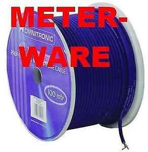STUDIO-CAVO-MICROFONO-Metraggio-Blu-2x-0-22mm-Cavo-Microfono-Micro-Cavo-DMX-Cavo
