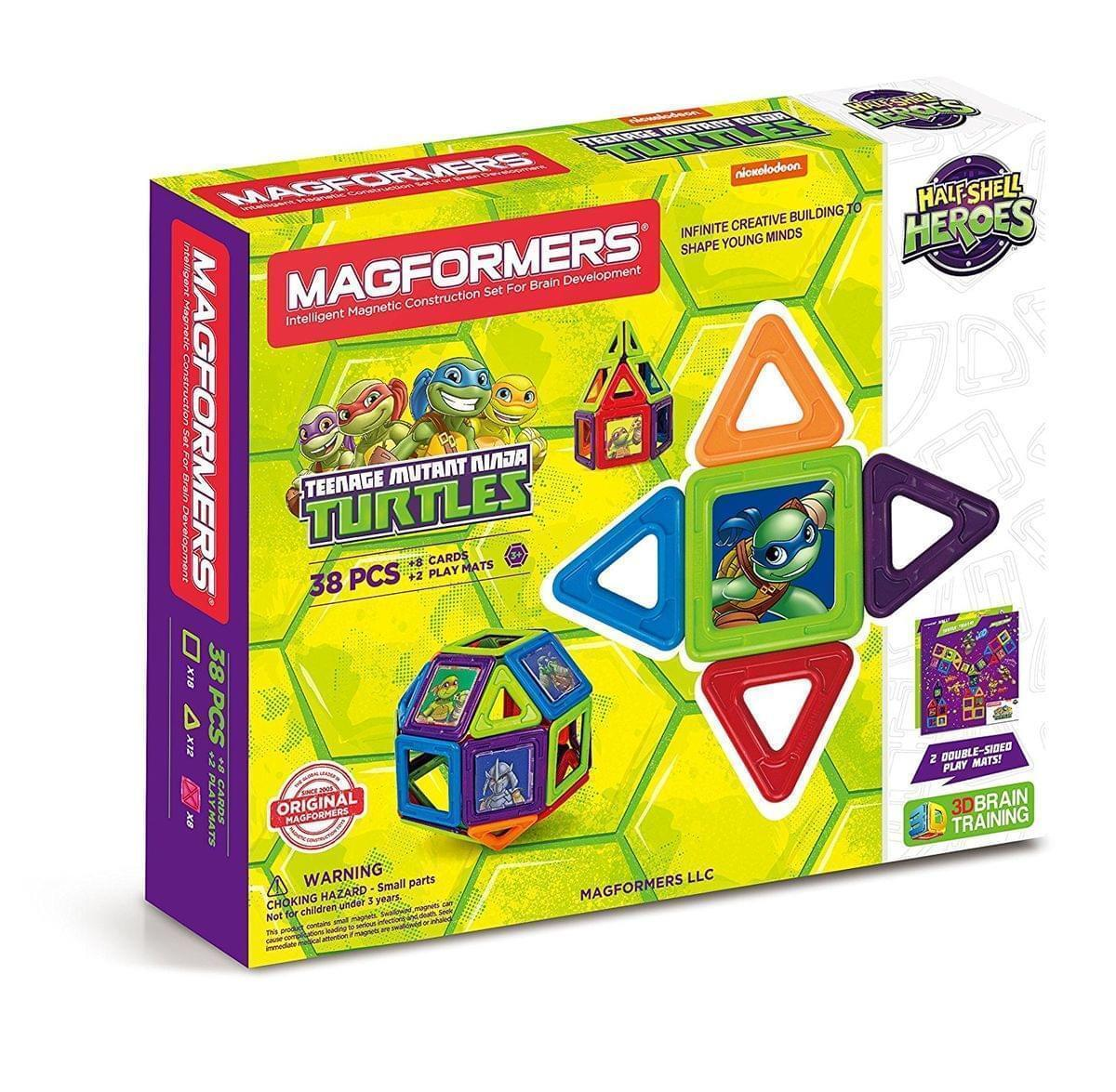 Magformers Teenage Mutant Ninja Turtles Building Set (38 PCS) New