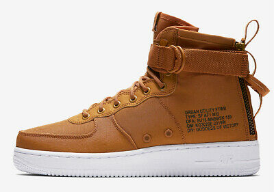 Nike SF Air Force 1 Mid Men's Shoes Desert OchreSequola White. (NO BOX LID) NEW 826215512431 | eBay