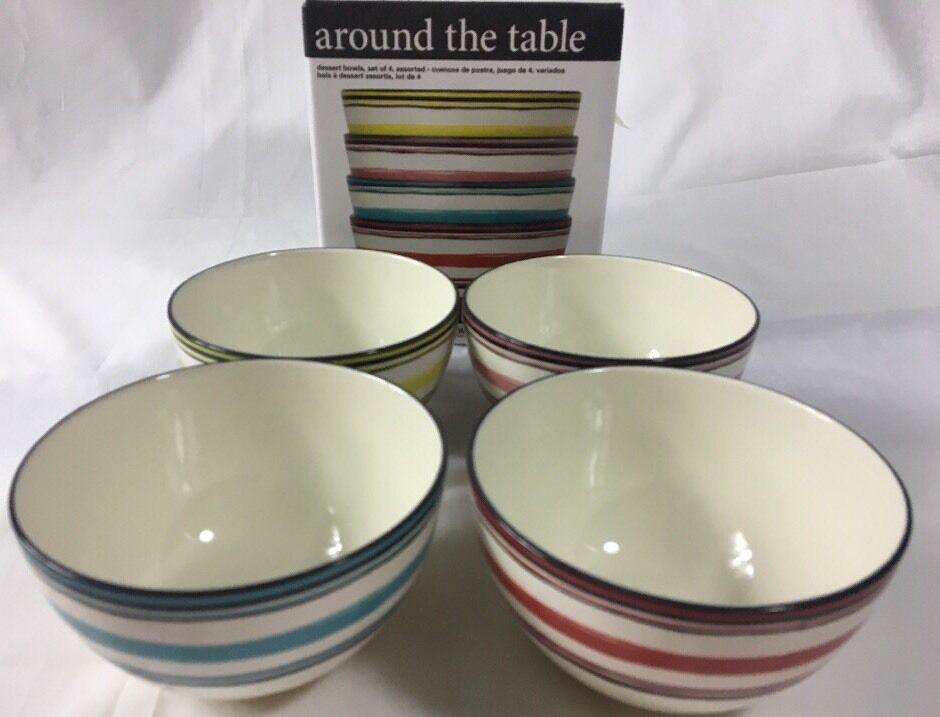 Lenox Around The Table Dessert Bowls Set Of 4 NEW