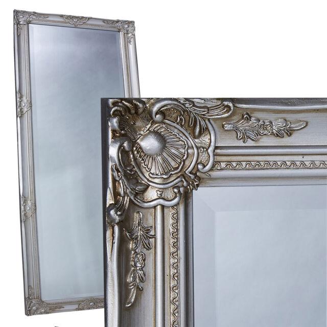 Spiegel XXL Silber Wandspiegel Barock Prunkspiegel 160x98cm Standspiegel Barock