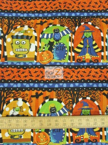 NOT SO SPOOKY HALLOWEEN FRIGHT BY  IN THE BEGINNING FABRICS COTTON FH-1904