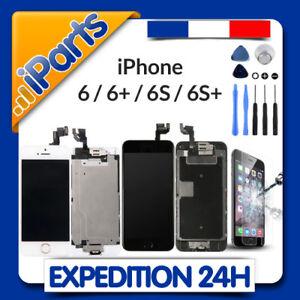 BLOC COMPLET ECRAN LCD VITRE TACTILE IPHONE 6 / 6 PLUS / 6S / 6S+ NOIR ou BLANC