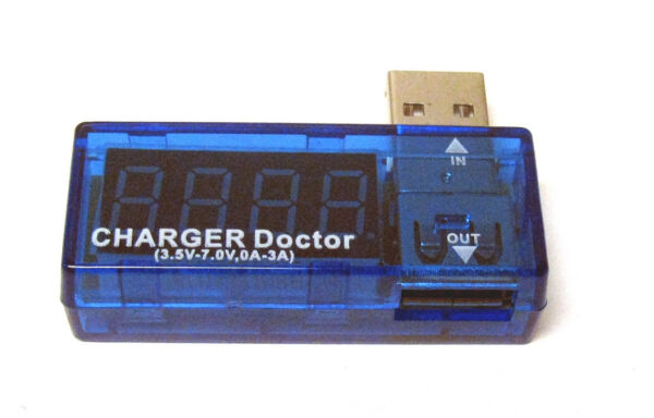 Nuttig New Usb Power Portable Mini Current Voltage Tester Detector Blue Lrus