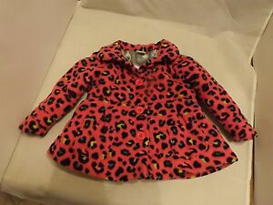 New Beautiful Healthtex Girls Pink Leopard Lined Fleece Coat 12 Months Waterproof Shock-Resistant And Antimagnetic