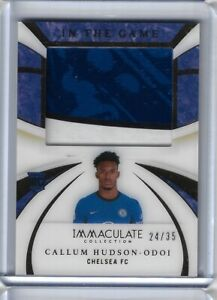 2020 Panini Immaculate Soccer Callum Hudson-Odoi JUMBO PATCH 24/35 RELIC Chelsea