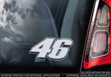Valentino Rossi #46 - Car Window Sticker - 'The Doctor' Moto GP Yamaha 46 - V06