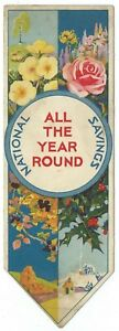 Vintage-Book-Mark-NATIONAL-SAVINGS-039-All-The-Year-Round-039-c1939-Post-Office-TSB