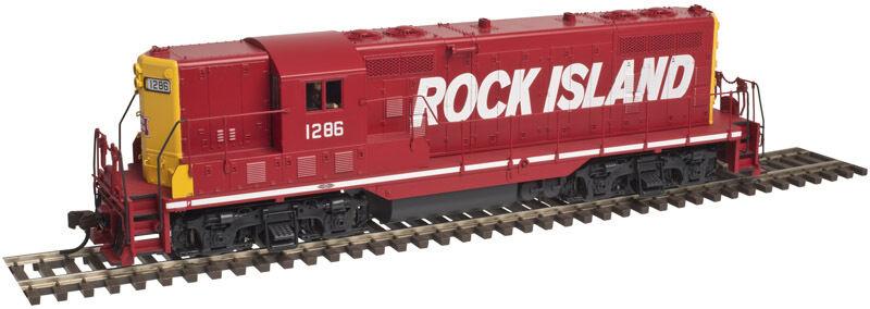 Rock Island RR GP-7 Diesel Con ESU LOKSOUND & DCC-Atlas oro-muy deDimensioneda
