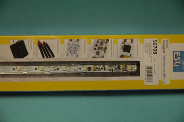 ESU 50708 Waggon Innenbeleuchtung 255 mm warmweiß mit Schlusslicht Digital NEU