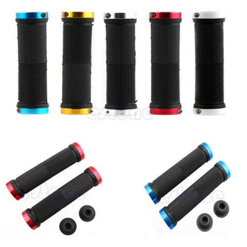 1Pair Colorful Cycling Handlebars Lock-on Handle Grips For Mountain Bike Bicycle