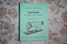 Singer Sewing Machine 211G Service Manual CD. Also for 111G 111W 211U 211W 411U