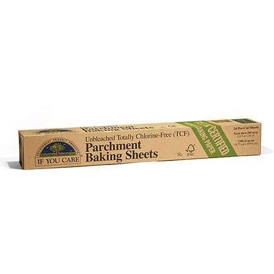 If You Care Parchment Baking Sheets 24 Pre-Cut Sheets Unbleached Paper