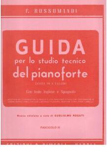 Simeoli Rossomandi Guida per Lo Studio Tecnico Del Pianoforte Fascicolo II