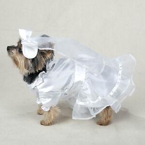 Casual Canine WEDDING GOWN BRIDE DRESS Dog Pet Halloween Costume FORMAL WEAR