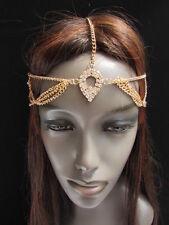 NEW WOMEN GOLD METAL HEAD CHAIN FASHION JEWELRY SILVER RHINESTONES FORHEAD DROP