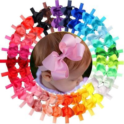 "30 Colors/pack Baby Girls Headbands 4.5"" Hair Bows Hairbands For Infant Toddlers Good For Energy And The Spleen Girls' Accessories"