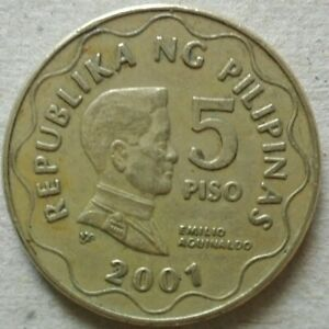 Philippines 5 Piso coin 2001