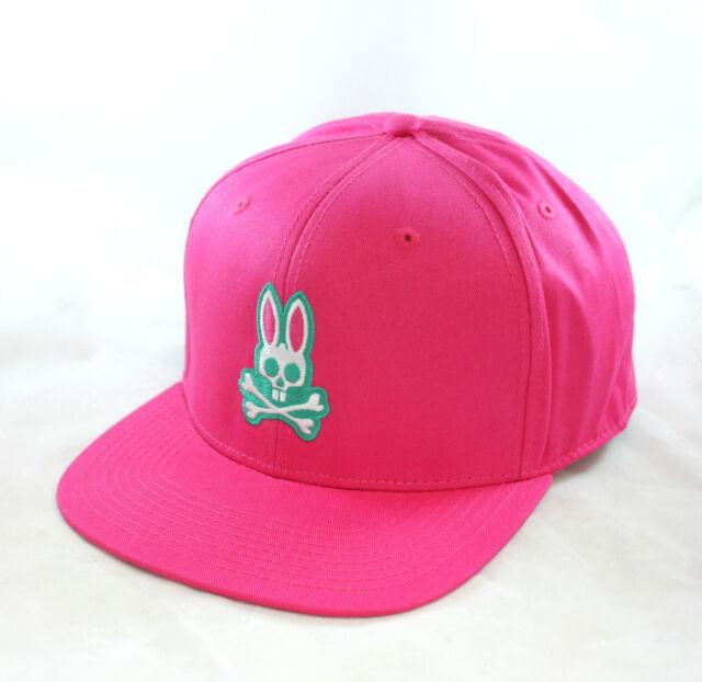 Psycho Bunny Everyday Flat Snapback Cap Hat Snapdragon Pink Mens  3194d7e9964