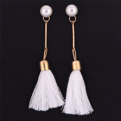 Long Tassel Earrings Drop Dangle Pearl Ear Stud  Earring Bohemia Lady Jewelry Ch