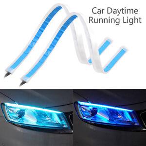 2Pcs-45-60cm-Tube-Car-LED-Strip-DRL-Daytime-Running-Lights-Turn-Signal-Indicator
