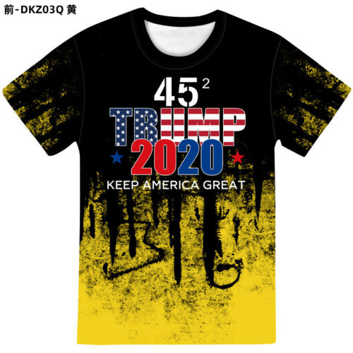 2020 Trump Keep America Great 3D Printed T-Shirt Casual Shortsleeve O Neck Tops