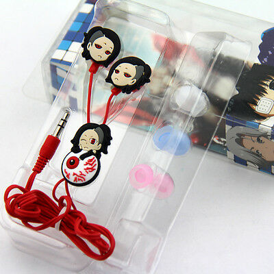 Anime Tokyo Ghoul Uta Cartoon Earphone Earbuds Headphones Headset Gifts Cosplay