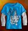 NWT 77kids by American Eagle Boys Size 4T 5T Long Sleeve Shred Skate Tee Shirt