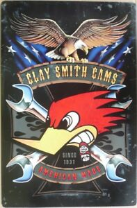 CLAY-SMITH-CAMS-AMERICAN-MADE-SINCE-1931-All-Weather-Metal-Sign-450x300
