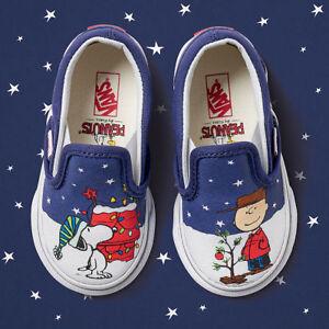 b85fb2e7037fd5 Vans X Peanuts A Charlie Brown Christmas Xmas Tree Toddler Classic ...