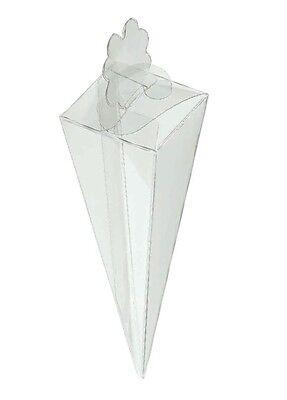 Luminosa 10 Cono Porta Confetti Riso Bomboniera Made In Italy Trasparente Cm15 Bomboniera
