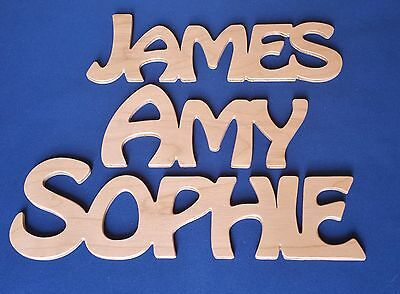 Personalised Wooden Name Plaques Words Letters Wall Door Art Craft Sign Novelty